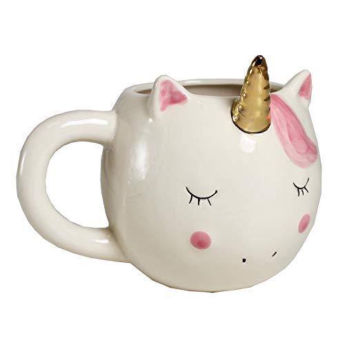 Ceramic Unicorn Mug with Gold Horn