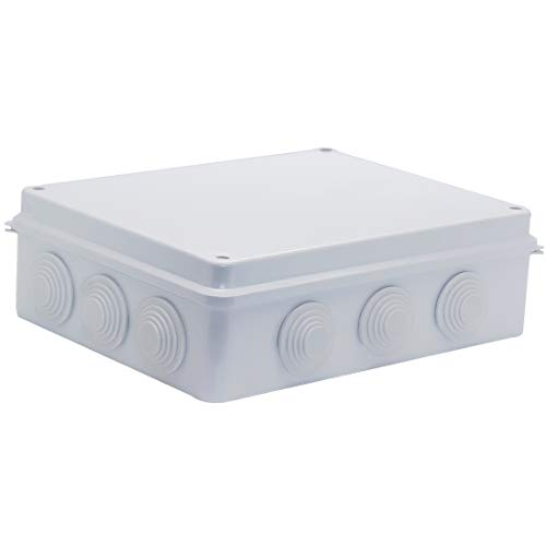 LuSumtly Junction box Dustproof Waterproof IP65 ABS Plastic Electrical Boxes, Indoor & Outdoor Electrical Power Cord Enclosure Universal Project Box DIY Case White 10 x 7.9 x 3.1 inch (255x200x80mm)