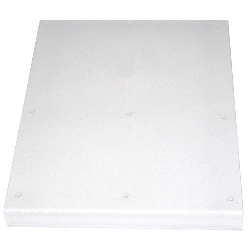 Kitchen Kare Large Acrylic Cutting Board with Counter Lip, 18.5'L x 15'W