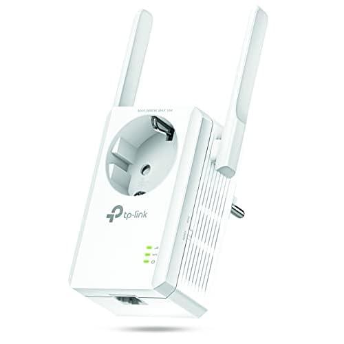 TP-Link Ripetitore WiFi Wireless TL-WA860RE con presa integrata, Wifi Extender e Access Point, Velocità 300Mbps, Porta LAN, Potenzia la tua copertura Wi-Fi, Compatibile con tutti i modem router wifi