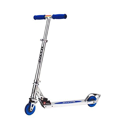 Razor A2 Kids Folding Aluminum Portable Kick Push Scooter with Wheelie Bar, Blue