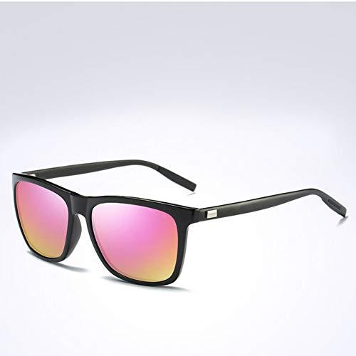 Shihuam Square gepolariseerde zonnebril spiegel lens zonnebril voor mannen vrouwen polaroid zonnebril Uv400