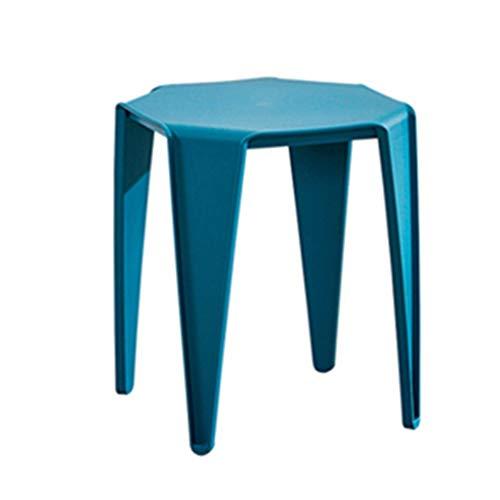 Tabouret de Salle de Bain Tabouret en Plastique Tabouret Adulte Chaise épaississante à la Maison Banc de Salle à Manger Tabouret Tabouret Carré (Color : Blue, Size : 32cm*32cm*45cm)