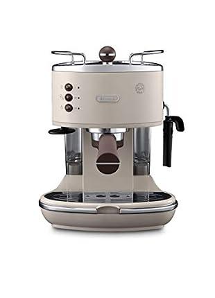 De'Longhi ECOV 311.BG Cafetera Automática, 1100 W, 1.4 L, 15 Bares, 2 Tazas, Acero Inoxidable, Beige