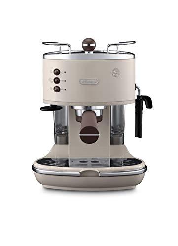 De\'Longhi Icona Vintage ECOV 311.BG Macchina da Caffè Espresso Manuale e Cappuccino, Caffè in Polvere o in Cialde E.S.E., 1100 W, Beige