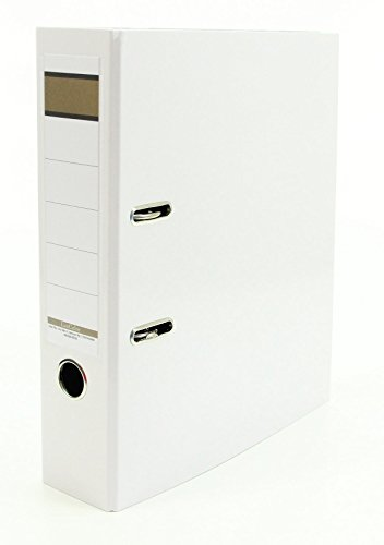 10x Livepac Caribic Glanz-Ordner / DIN A4 / 75mm breit / Farbe: weiß