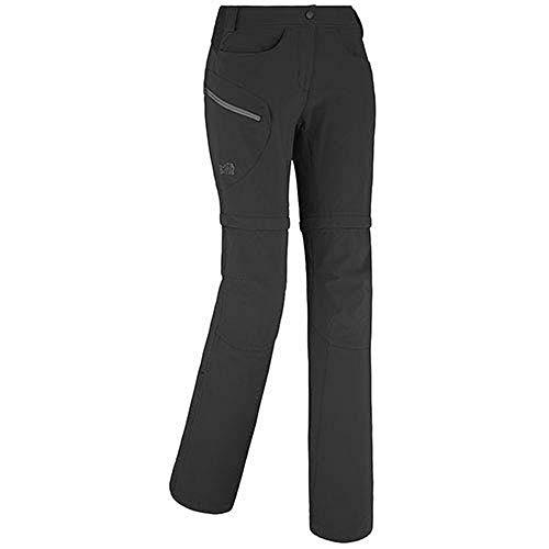 MILLET LD Trekker Strech zo Pant Pantaloni Zip-off Donna, Donna, LD Trekker Strech ZO Pant, Noir/Tarmac, M (FR: 38)