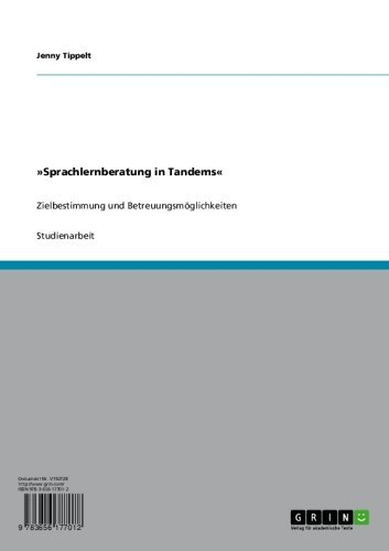 »Sprachlernberatung in Tandems«: Zielbestimmung und