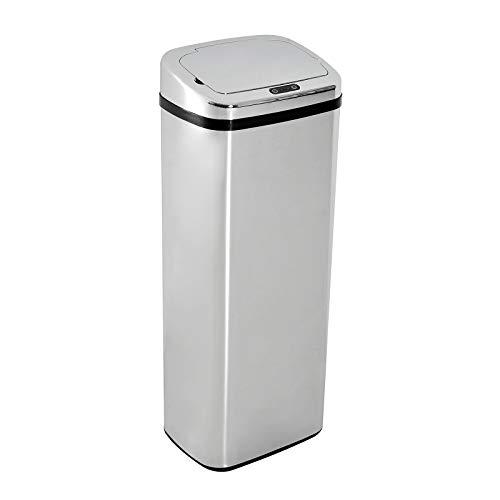 HOMCOM Mülleimer Automatik mit Sensor Abfalleimer Küche Edelstahl 50/68L Silber (50L)