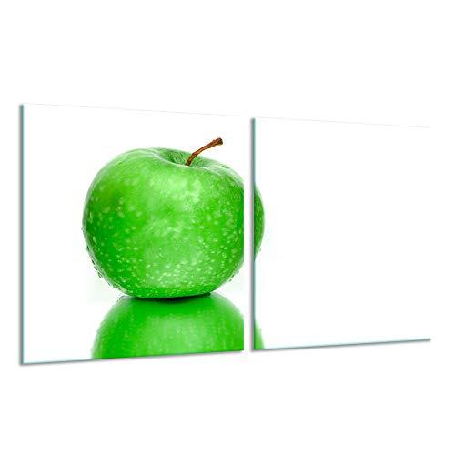 Fornuis afdekplaat Ceranfeld 2-delig 2x40x52 appelgroen kookplaten inductie