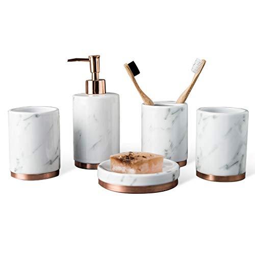 DBMGB Juego de Accesorios de baño de cerámica, Juego de baño de...