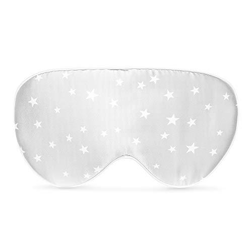 Navaris Schlafmaske Augenmaske Augenbinde aus Seide - 100% Dunkelheit zum Schlafen - für Schlaf auf Reisen oder Zuhause - für Frauen und Männer