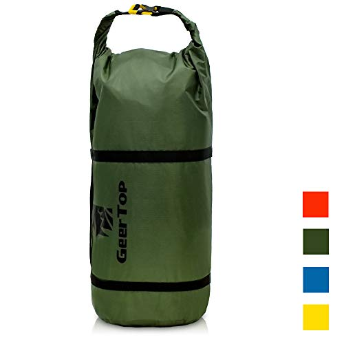 GEERTOP Waterproof Adjustable Tent Compression Bag Lightweight Duffel Bag for 6-8 Person Camping Tent & Outdoor Sports