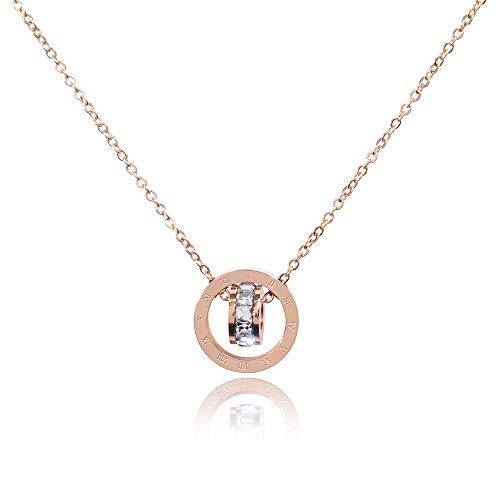 Zuzumia Donna Collana Circolare Ciondolo Placcato in Oro Cristalli di Swarovski, Anallergici con Delicata Scatola di Gioielli