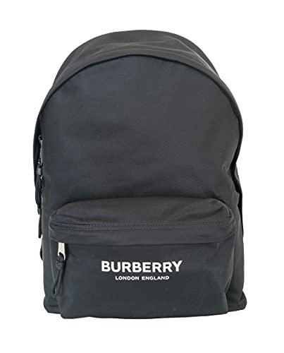 BURBERRY zaino in eco-nylon medio con logo london england 8021084 nero