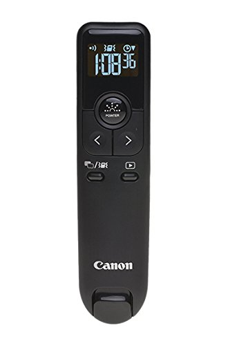 Canon PR100-R Wireless Presentation Remote, Red Laser, Black