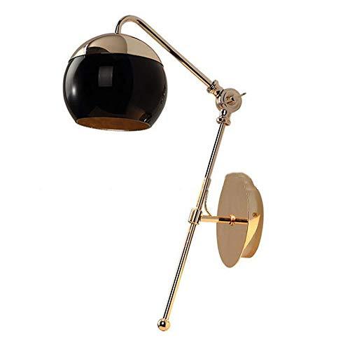 Moderne moderne kunst zwart glas banket hal goud balkon licht koffie eenvoudige wandlampen