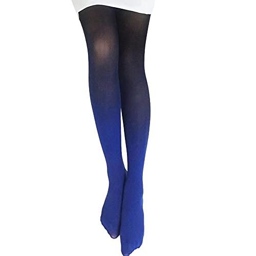 URIBAKY - Medias de cambio de gradiente progresivo vintage, medias de mujer, medias de moda, calcetines de algodón, multicolor, d, Talla única