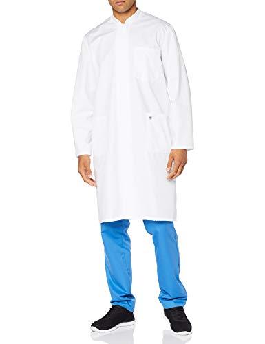 BP 1626-485-21-64n Mantel für Männer, Langarm, Stehkragen, 215,00 g/m² Stoffmischung, weiß ,64n