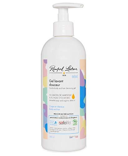 Gel lavant douceur Bébé certifié Bio 500 ml corps et cheveux Sans parfum au savon de marseille véritable et à l'huile d'olive bio