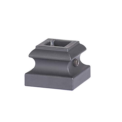 Box of 10 Satin Black 16.3.28 Angled Base Shoes for 9//16 inch Square Tuscan Iron Balusters for Stair Remodel
