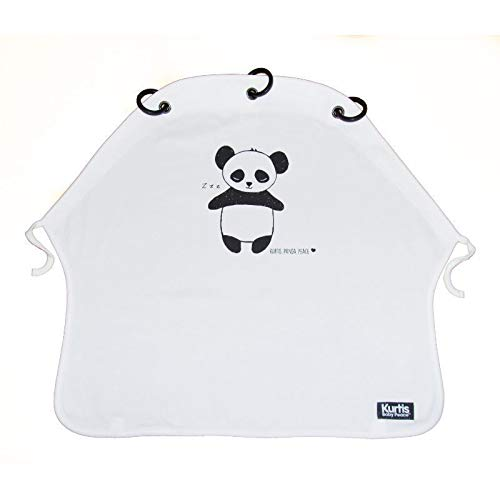 Kurtis K-BP007 Baby Peace Vorhang für Kinderwagen, innovativ und funktionell, Panda, Schwarz & Weiß