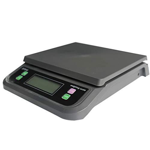 LJP Post Plattform Rahmen, 30 Kg Digital Post Paket Waage Küche Waage Mit Gegenlicht LCD Gepäck Waage Schmuck Waage Schwarz Weiß (Color : Black, Size : 15kg*0.5g)