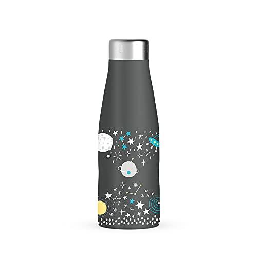 Botella de acero inoxidable de 500 ml. Botella térmica para líquidos calientes y fríos. Mantiene la temperatura durante varias horas. Botella de doble pared. Cierre hermético con rosca.