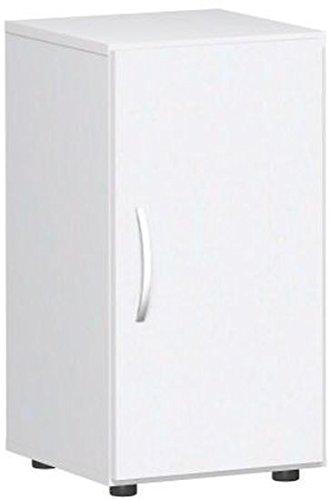Gera Möbel Schranksystem Flex Flügeltürenschrank, Drehtürenschrank, Holzdekor, weiß/weiß, 40 x 42 x 75.2 cm