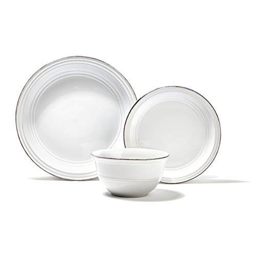 American Atelier Madelyn Casual Round Dinnerware Set – 12-Piece Stoneware...