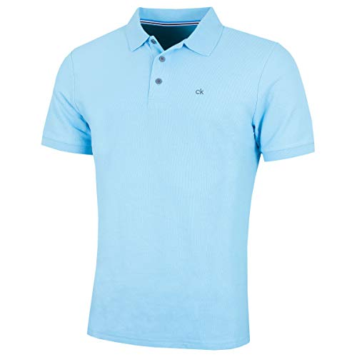 Calvin Klein Golf Mens Midtown Radical-Polo-Hemd - SkyBlau - M