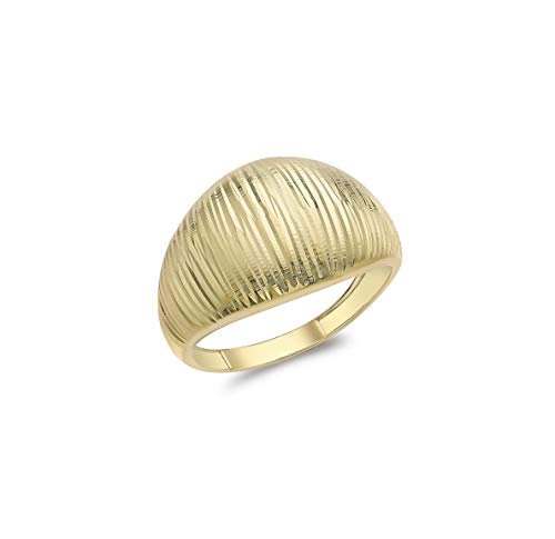 Carissima Gold Damen Diamantschliff Kuppel Ring 9k (375) Gelbgold 56 1.49.1739