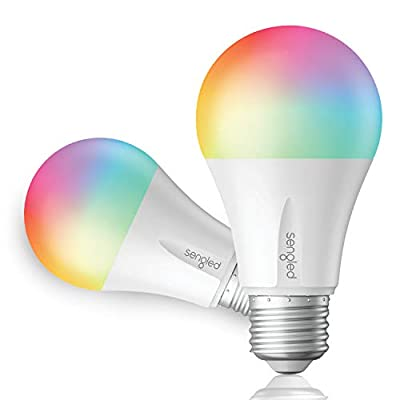 Sengled Smart Light Bulb, LED Light Bulb That Works with Alexa, Google Home, Siri, RGB Color Changing Bulb, A19 E26 Alexa Light Bulbs, Dimmable Multicolor 60W Equivalent, 800LM, Hub Required, 2Pack