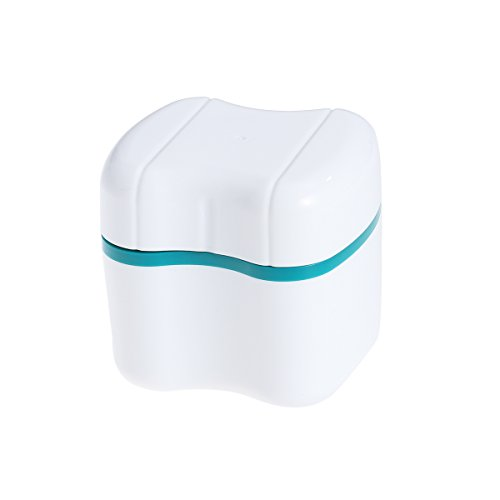 ROSENICE Prothese Zahn Dental Falsche Zähne Aufbewahrungsbox mit Spülkorb (grün)