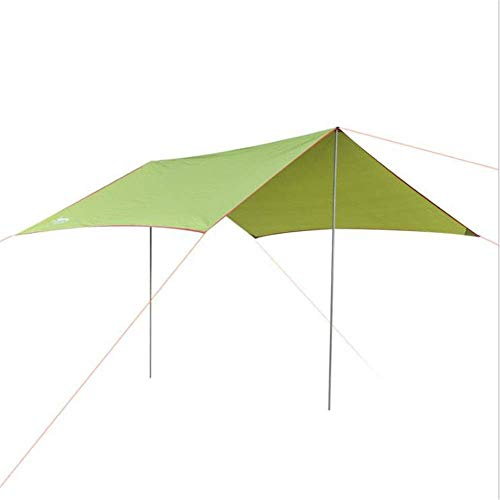 YELLAYBY Firm Relax Family Tent 9.8x9.8 Feet Portable Tarp Shelter Waterproof Hammock Rain Fly Tent with Stakes Poles Ropes Survival Gear Kit for Camping Backpacking Fishing Outdoor Tent Rest