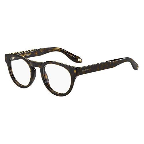 Givenchy GV 0007 086 Studed Havana Plastic Round Eyeglasses 48mm