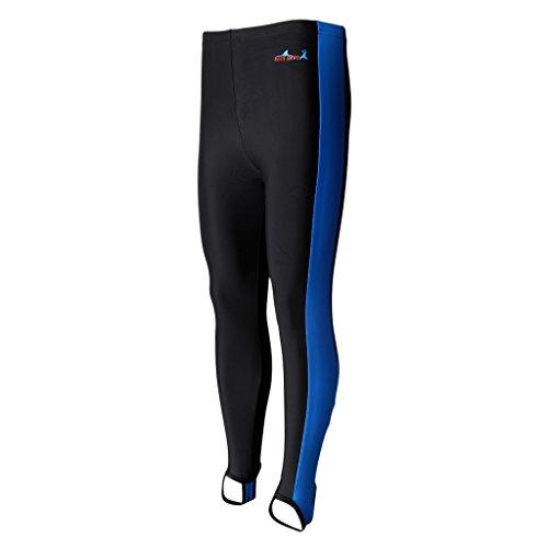 Toygogo Traje De Neopreno Ligero Y Elástico Con Protección Solar UV Buceo Buceo Surf Natación Snorkel Pantalones Largos Para Hombres Mujeres - Franja azul negra, SG