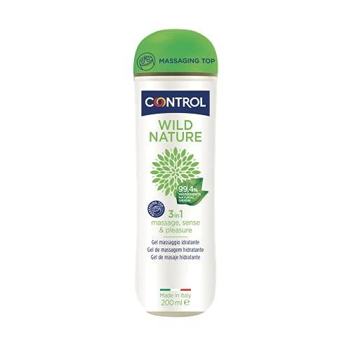 Control Gel 3in1 Massage, Sense & Pleasure Wild Nature 200 ml, 100% Made in Italy