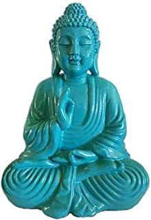 AzureGreen Home Décor Statues Buddha Hand in Vitarka Mudra Position Rich Turquoise Color 7 3/4