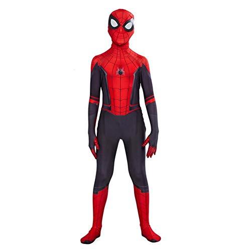 COSPLAY Disfraz de Spider-Man far from home para nios -Traje de cuerpo completo con mascara incluida (XL)