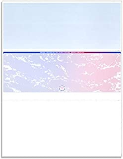 NextSecure Blank Laser/Ink-Jet Checks, 500 Sheets Per Pack (Red-Blue Prismatic/Center Check)