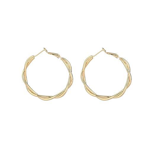 Übertriebene Temperament Ohrringe Ohrringe 2020 Neue Trend Persönlichkeit runde Ohrringe weiblich Party Jewelr (Color : E0004)