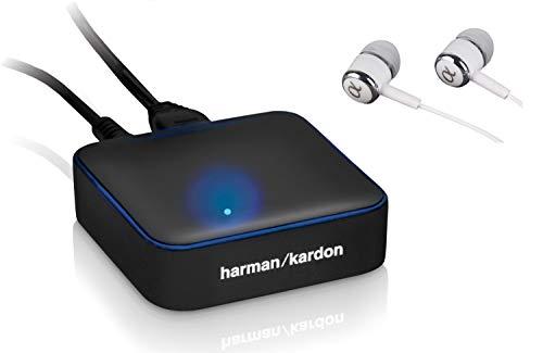 Harman Kardon BTA-10 External Bluetooth Adapter Bundled with Alphasonik Earbuds (with Earbuds)