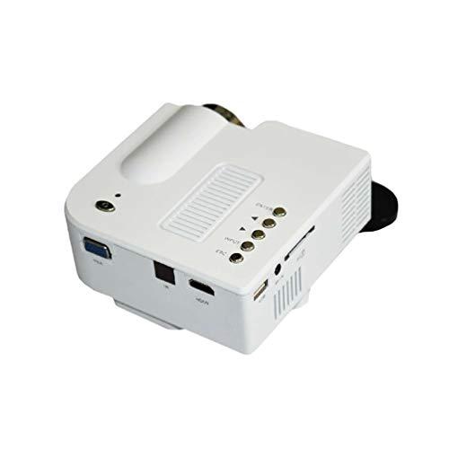 Xegood Proiettore,1080p 60 Lumen Mini Videoproiettore Portatile Altoparlante del LED Fino 20000 Ore Cinema Domestico Compatibile HDMI/USB/VGA/Micro SD Supporto Android iOS TV Box Bianca EU Standard