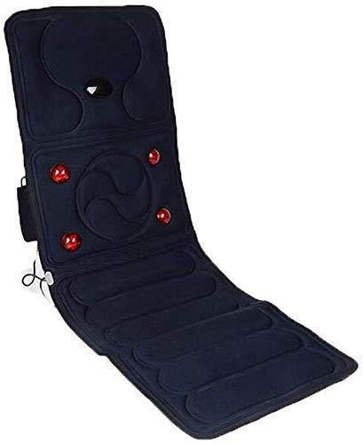 Relaxbx massagemat met warmte, verwarmde mat voor het hele lichaam, 9 vibratiemotoren, compacte, eenvoudige opslag