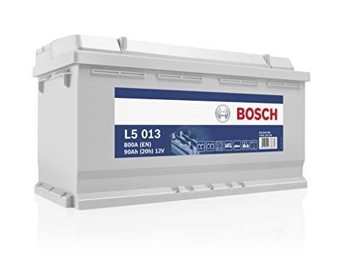 Bosch L5013 Batería de descarga lenta 12V, 90Ah, 800A - Ocio: Furgonetas...