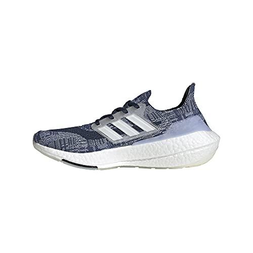 adidas Men's Ultraboost 21 Primeblue Running Shoes, Crew Blue/White/Crew Navy, 6.5