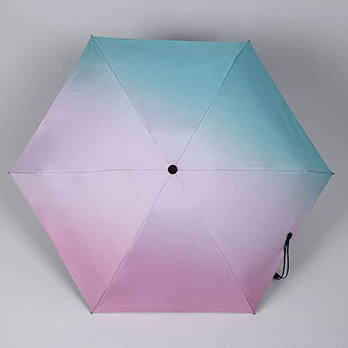 MVBGLK Zwart plastic zonnescherm nieuwe vijf voudige zak paraplu zak zwart rubber zonnescherm 48.5X6k 3