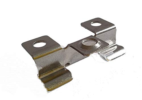 Edelstahl Clips V2A Terrasse WPC Dielen Befestigungsclips Alle GrößenKlemmbereich 6-9mmMit Schrauben (7 mm 100 Stück)