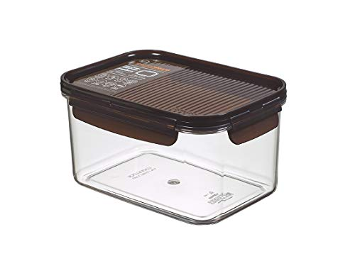 LocknLock LBF405TRN Modular-Food Containers with Lids-BPA Free-Stackable-Durable and Clear Tritan Plastic-Dishwasher Microwave Freezer Safe, Brown, 1.5 l